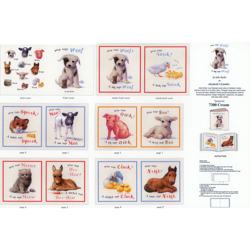 Who Says Woof - Activity Book - 100% Cotton