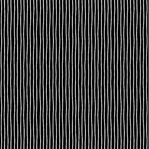 "Irregular Stripes - B/W - 100% Cotton - 44"""