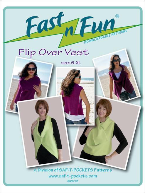 FLIP OVER VEST - 3002 - Paper Pattern - Saf T Pockets