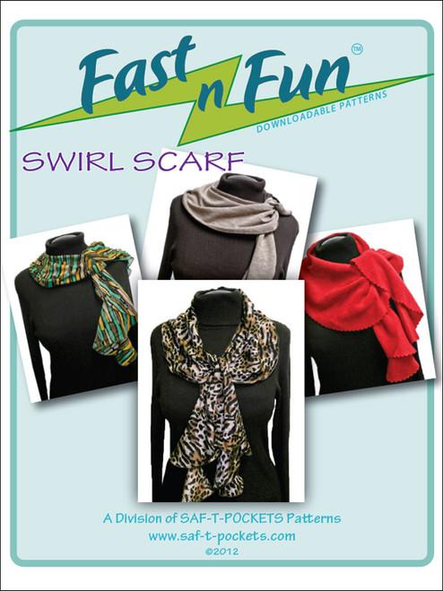 SWIRL SCARF - 3001 - Paper Pattern - Saf T Pockets