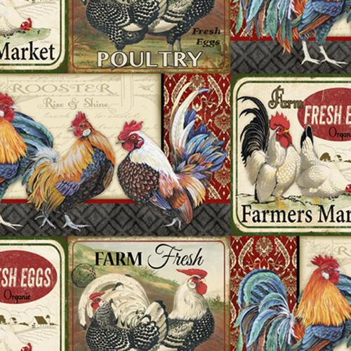 "Farm Life - 100% Cotton - 44/45"""