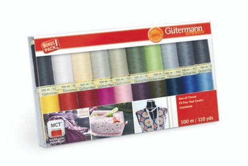 Sew-all Thread Set - Gutermann - Basic Colors 20 spools