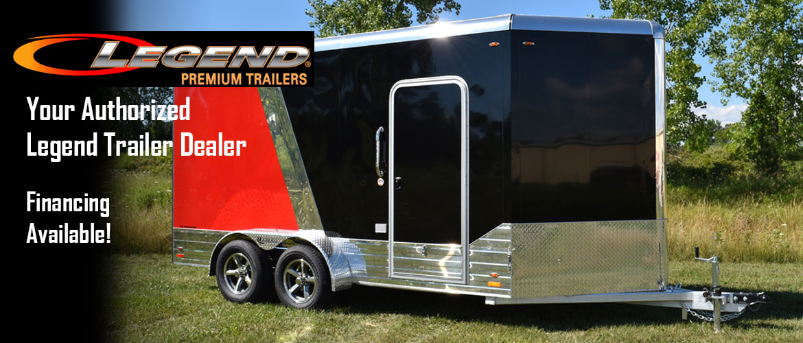Legend Enclosed Open Trailer For Sale