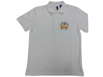 Titanic Quarter Cycling Club Men's White Polo