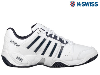 K-Swiss Accomplish III Mens Tennis Shoe (White/Navy)
