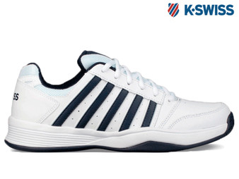 K-Swiss Court Smash Omni Mens Tennis Shoe (White/Navy)
