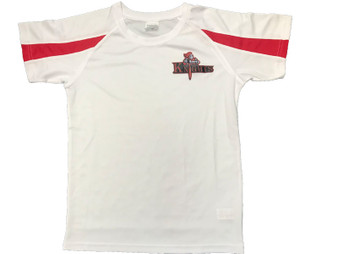 Northern Knights Kids Training T- Shirt White/Red