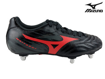 Mizuno Waitangi Kids Rugby Boot (Black/Red)