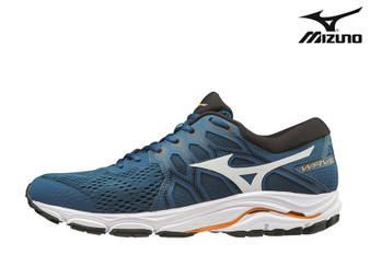 Mizuno Wave Equate 4 Mens Running Shoe (Morocan Blue/Orange)