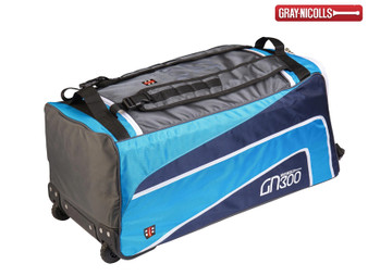 Gray Nicolls 300 Wheelie Cricket Bag (Blue/Black)