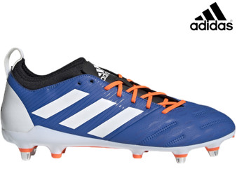 Adidas Malice Elite SG Mens Rugby Boot (Blue/White/Orange)