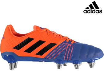 Adidas Kakari Elite SG Mens Rugby Boot (Blue/White/Orange)