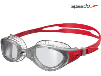 Speedo Futura BIofuse Flexiseal Swimming Google Adult Clear/Red