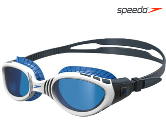 Speedo Futura BIofuse Flexiseal Swimming Google Adult White/Blue