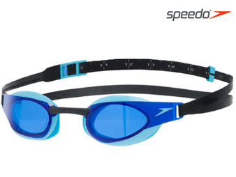 Speedo Fastskin Elite Swimming Goggle Adult Black/Aqua