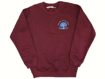 Stranmillis Primary School Maroon Sweatshirt (Adult Sizes)
