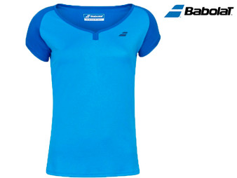 Babolat Play Cap Sleeve Girls Tee (Aster Blue)