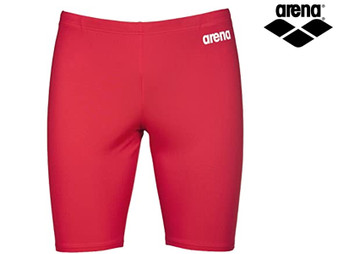 Arena B Solid Boys Jammer (Red/White)