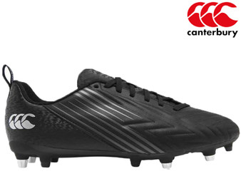 Canterbury Speed 3.0 SG Mens Rugby Boot (Black/Grey)
