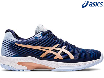 Asics Solution Speed FF Ladies Tennis Shoe Clay (Peacoat/Rose Gold)