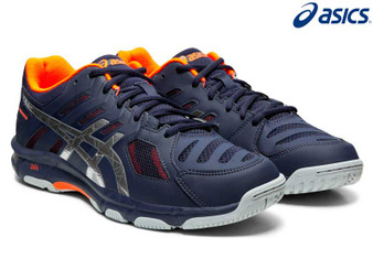 Asics Gel Beyond Mens Court Shoe (Navy/Orange)