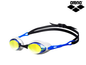 Arena Cobra Mirrored Goggles Blue/Orange