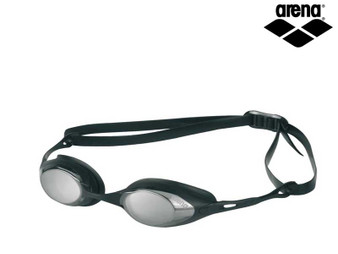 Arena Cobra Mirrored Goggles Smoke/Silver/Black