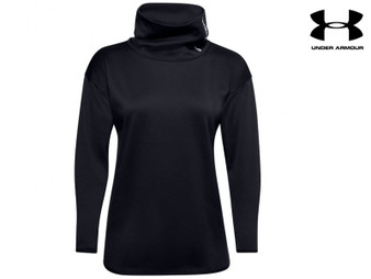 Under Armour Ladies Armour Fleece Funnel Neck Long Sleeve (Black)