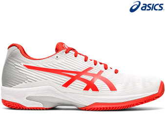 Asics Solution Speed FF Ladies Tennis Shoe Clay (White/Fiery Red)