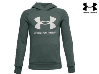 Under Armour Rival Logo Boys Hoody (Green 424)