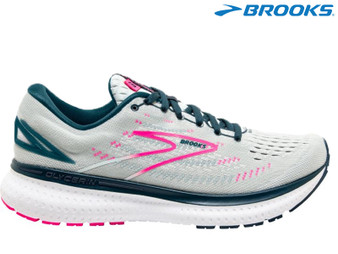 Broooks Gycerin 19 Ladies Running Shoe (Ice Flow/Navy/Pink)
