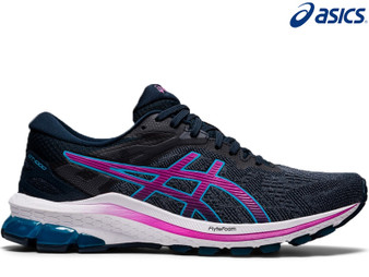 Asics Gel GT 1000 10 Ladies Running Shoe (French Blue/Digital Grape)