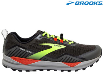 Brooks Cascadia 15 Mens Trail Running Shoe (Black/Raven/Cherry Tomato)