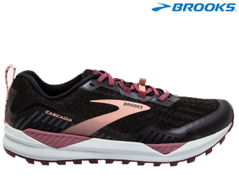 Brooks Cascadia 15 Ladies Trail Running Shoe (Black/Ebony/Coral Cloud)