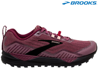 Brooks Cascadia 15 Ladies Trail Running Shoe (Nocturne/Zinfandel/Black)