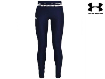 Under Armour Heat Gear Youth Leggings (Navy)