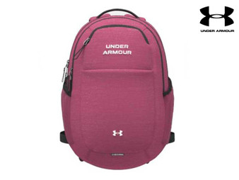 Under Armour Hustle Signature Backpack (Pink 678)