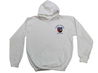 Victoria College White Hoody (Senior) with option for initials