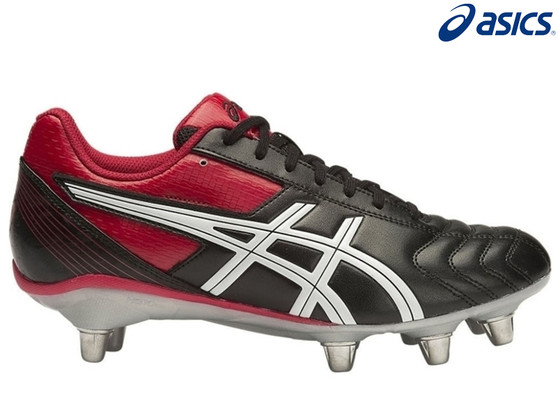Asics Lethal Tackle Mens Rugby Boots (Black/Red)