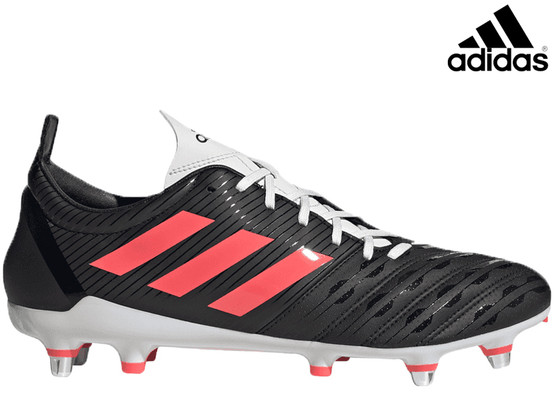 Adidas Malice SG Mens Rugby Boot (Black/Pink)