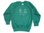 "Mount St Michael Nursery Green Sweatshirt 22""(1-2) 24""(3-4) 26""(5-6) 28""(7-8)"
