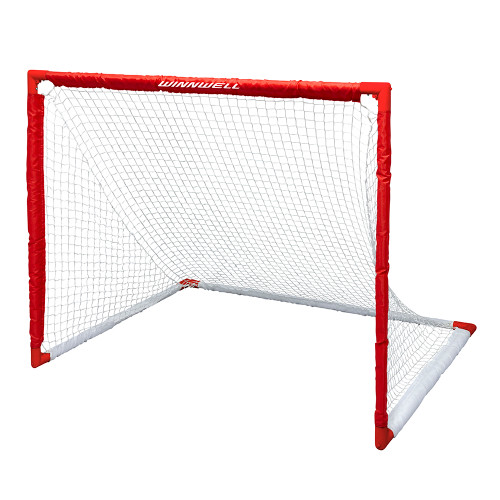 "COLLAPSIBLE PVC HOCKEY NET 54"" W/ 1.25"" POSTS & CARRY BAG"