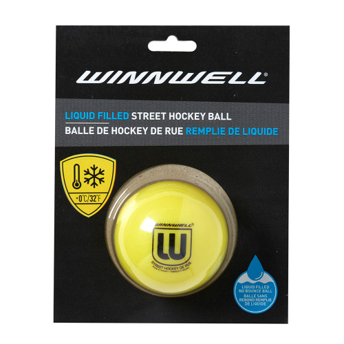 LIQUID FILLED STREET HOCKEY BALL 65MM 65G SOFT YELLOW