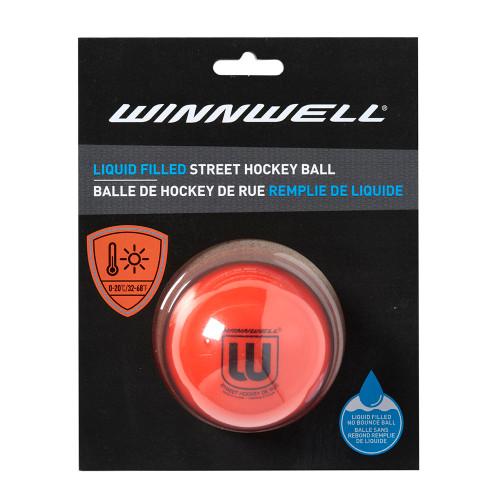 LIQUID FILLED STREET HOCKEY BALL 65MM 65G MEDIUM ORANGE