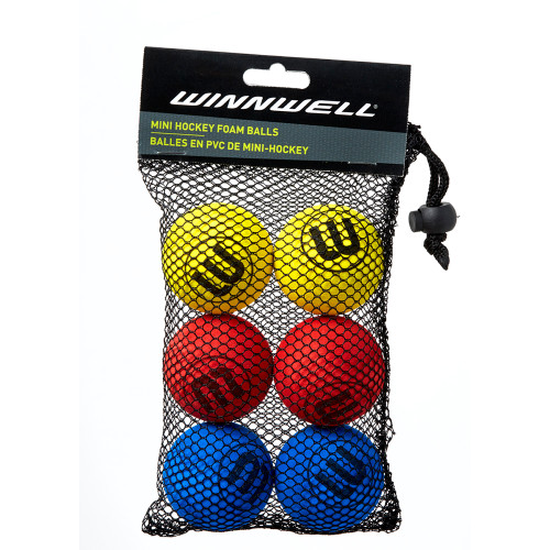 KNEE HOCKEY BALL 50MM EVA MULTICOLOUR  6-PACK