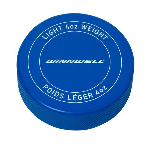 ICE HOCKEY PUCKS (BLUE 4OZ) - BRANDED
