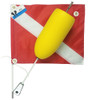 Torpedo Shaped Foam Scuba Diving Float with 14x18 Dive Flag