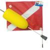 Torpedo Foam Scuba Diving Float with 14x18 Dive Flag