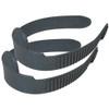 JCS Adjustable Black Nylon Fin Straps (1 Pair), 17inch x 1inch