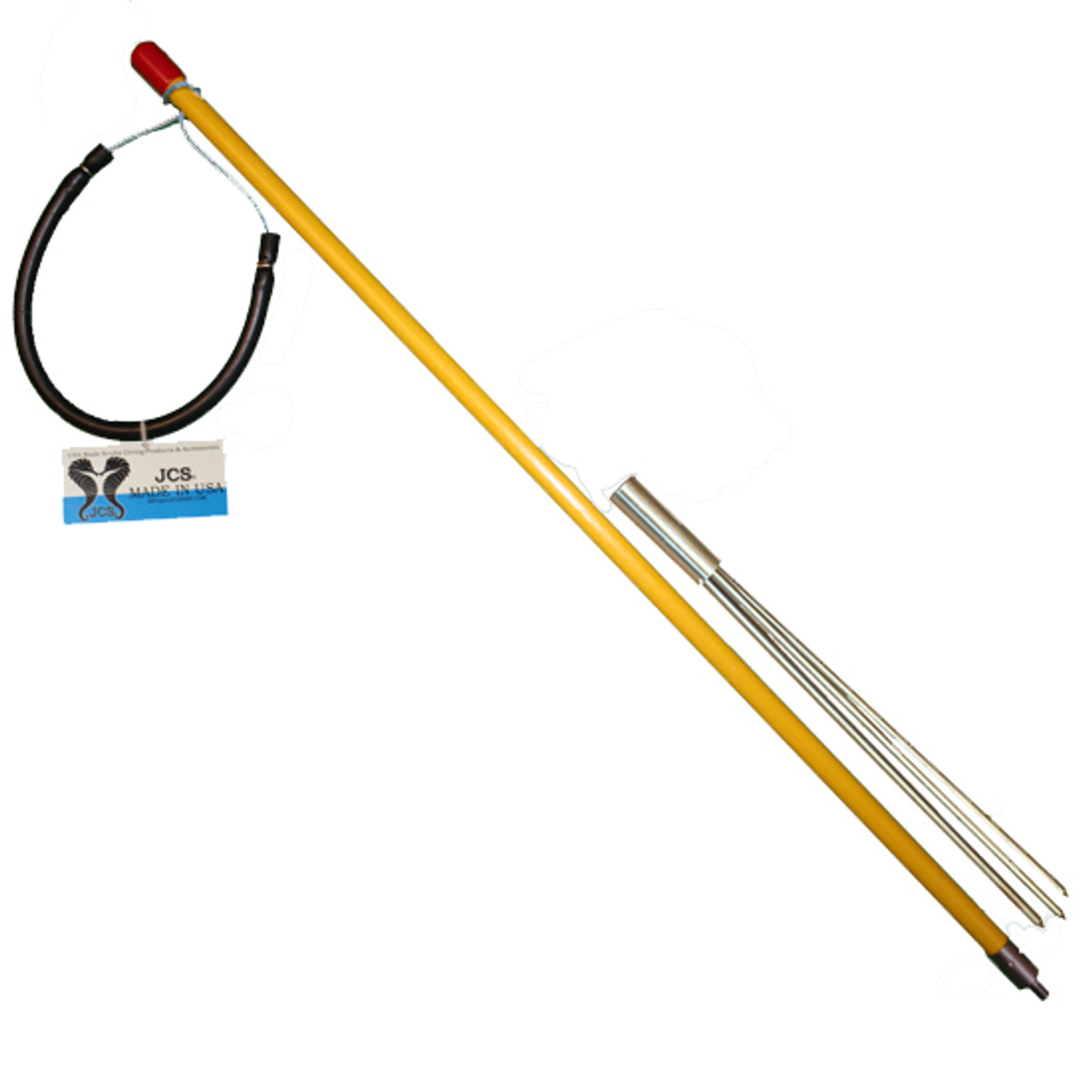 Take-Apart Includes Changeable Paralyzer Spear Head - Perfect for Travel. 3 Piece Pole Spear /& Nylon Carrying Bag. JCS Fiberglass